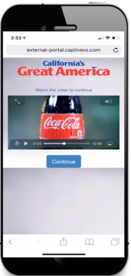 Video Ads Display Ads on Captive Portal CaptiveXS